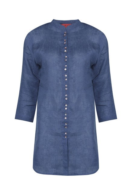 Zuba by Westside Navy Solid Kurti