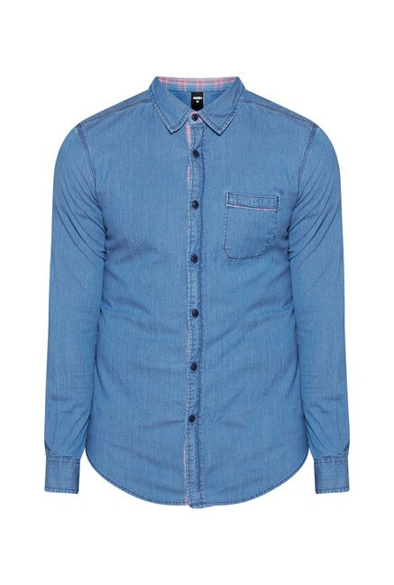 Nuon by Westside Blue Solid Shirt