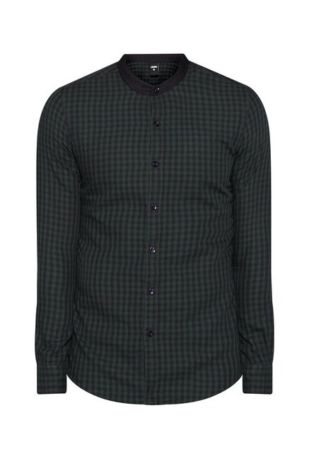 Nuon by Westside Green Checks Shirt