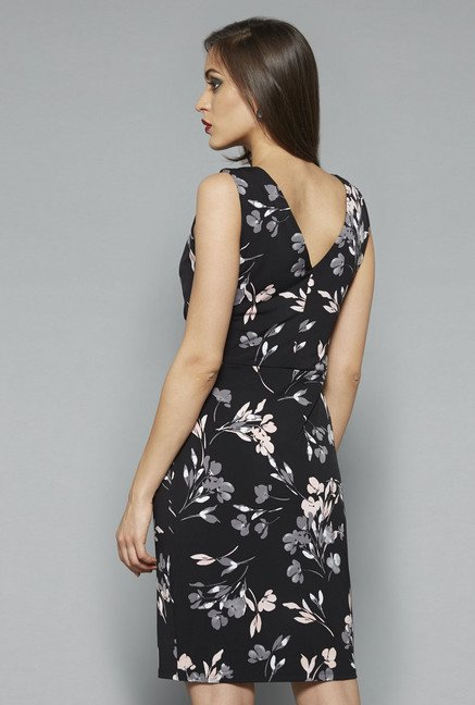Wardrobe by Westside Black Floral Print Dress