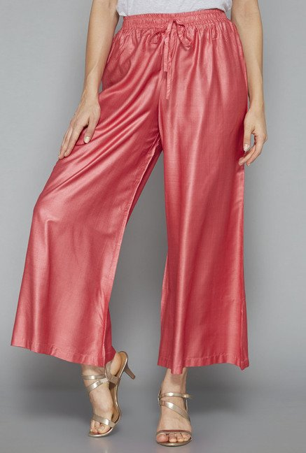 Zuba by Westside Coral Solid Palazzo