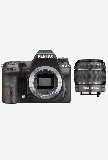 Pentax K-3 (18-55mm F/3.5-5.6AL Lens ) DSLR Camera Black
