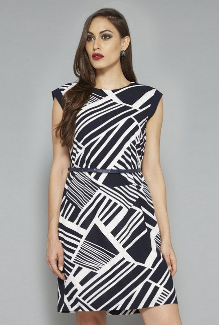 Wardrobe by Westside Black & White Printed Dress