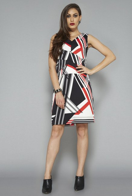 Wardrobe by Westside Multicolor Printed Dress