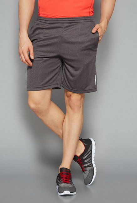 Westsport by Westside Grey Solid Shorts