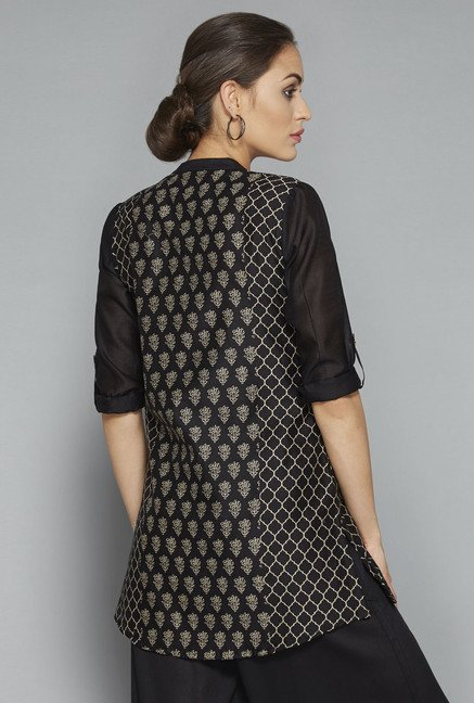Zuba by Westside Black Printed Kurti