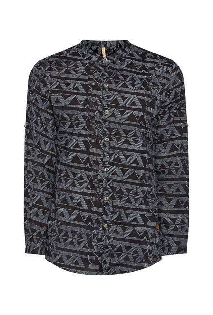 ETA by Westside Black Printed Shirt