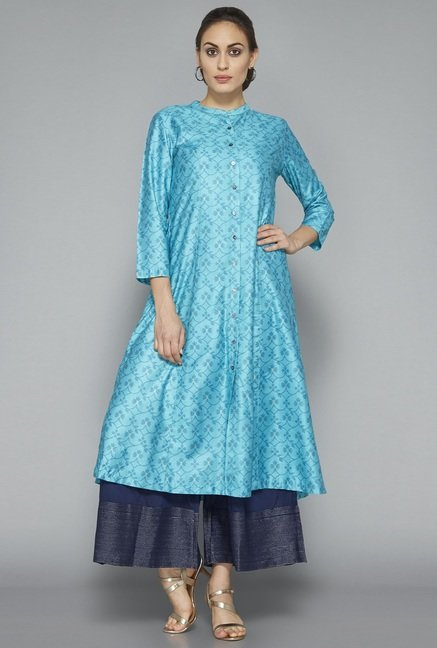 Zuba by Westside Blue Printed Kurta