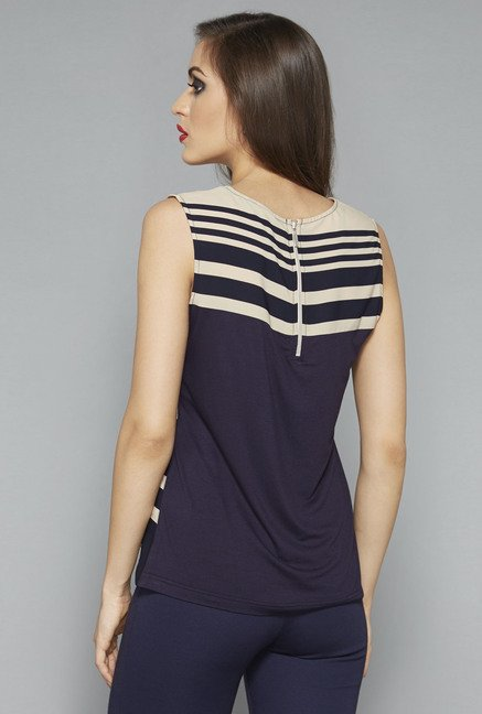 Wardrobe by Westside Beige Striped Top
