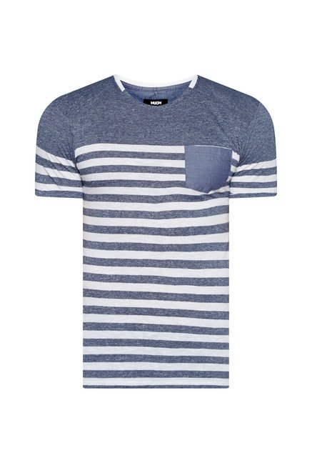 Nuon by Westside Indigo Striped T Shirt