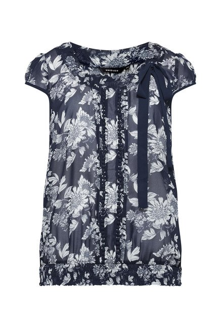 Wardrobe by Westside Navy Floral Print Blouse