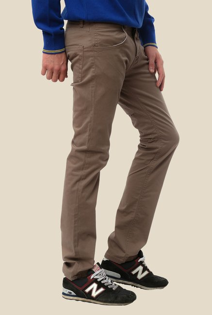 FCUK Beige Solid Trouser
