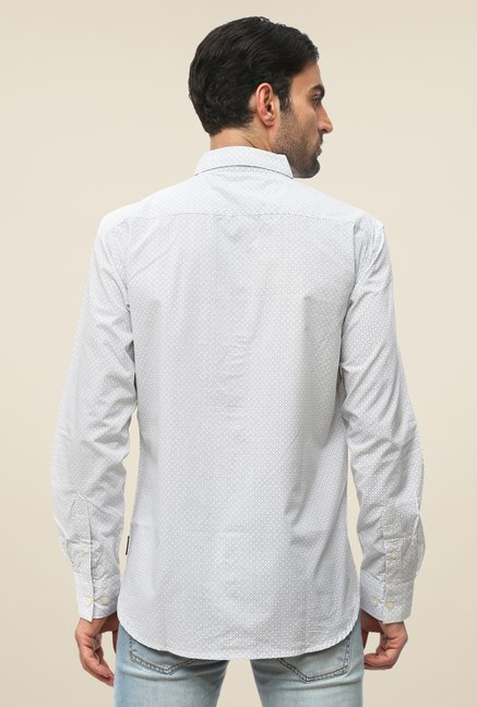 FCUK White Printed Shirt
