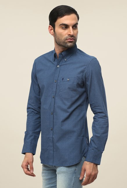 FCUK Blue Printed Shirt