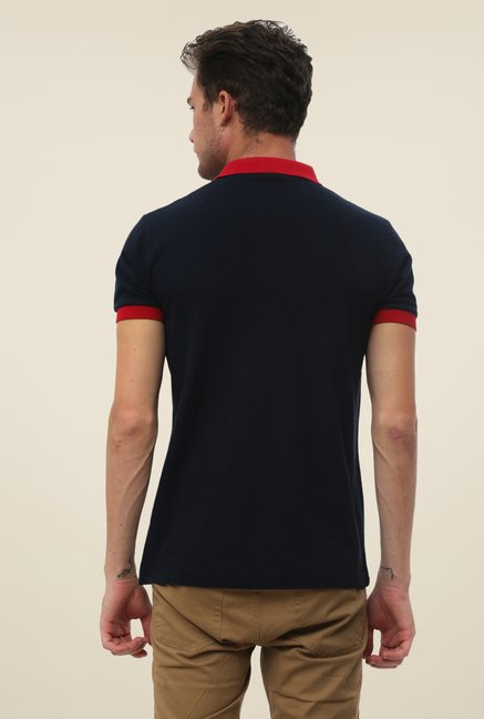 FCUK Navy Solid T Shirt