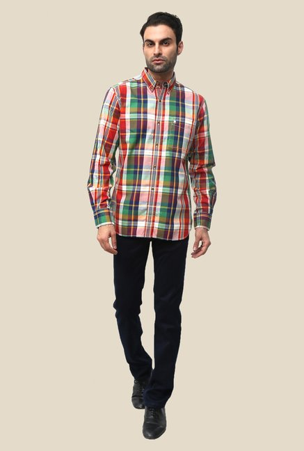 FCUK Multicolor Cotton Checks Shirt