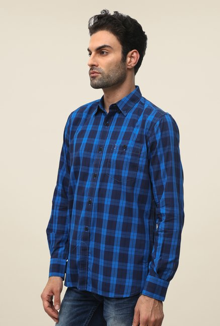 FCUK Blue Checks Shirt
