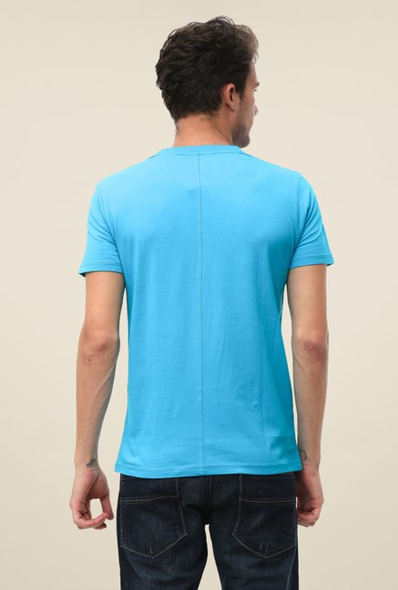 FCUK Blue Printed T Shirt