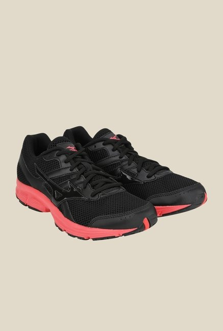 Mizuno Spark Black & Pink Running Shoes
