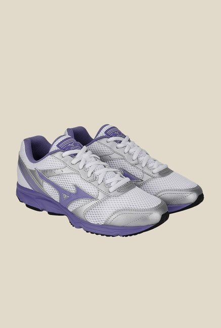 Mizuno Maximizer 18 White & Silver Running Shoes
