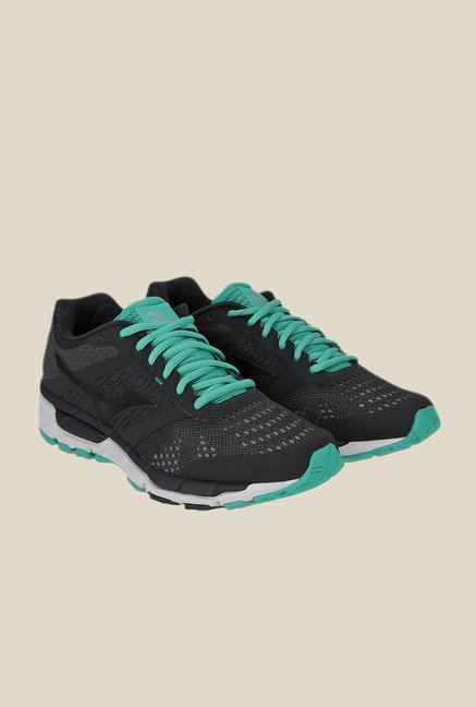Mizuno Synchro MX Black & Turquoise Running Shoes