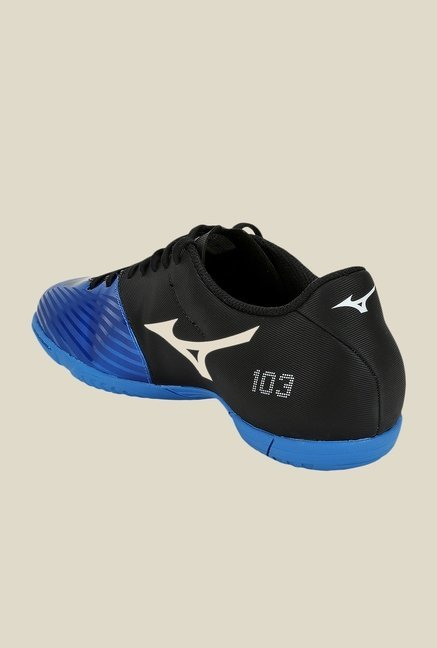 Mizuno Basara 103 IN Blue & Black Football Shoes