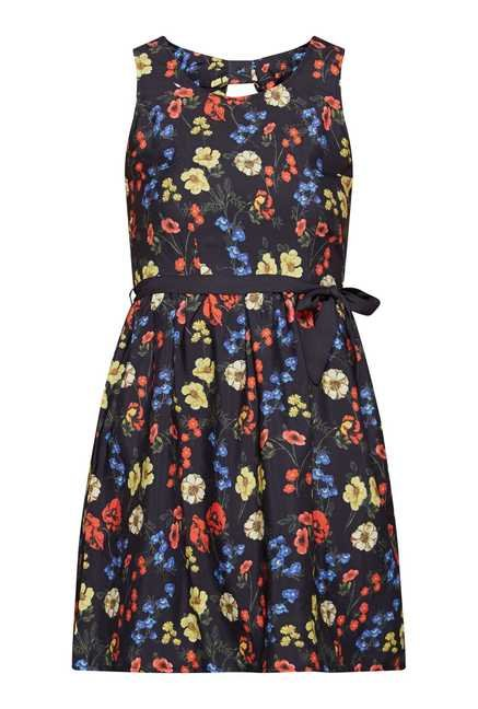 Nuon by Westside Navy Floral Print Dress
