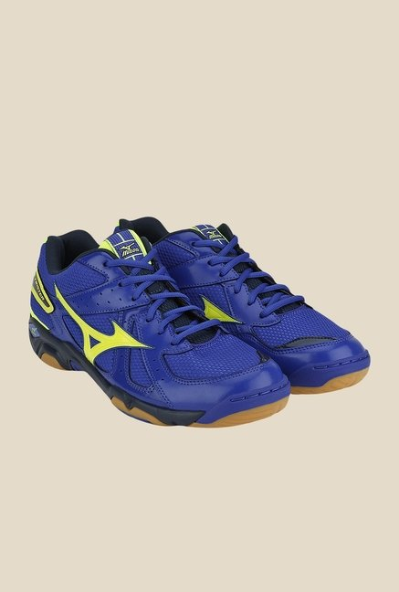 Mizuno Wave Twister 4 Blue & Yellow Sports Shoes