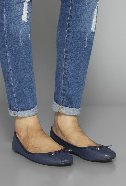 Head Over Heels by Westside Navy Ballerina Shoes