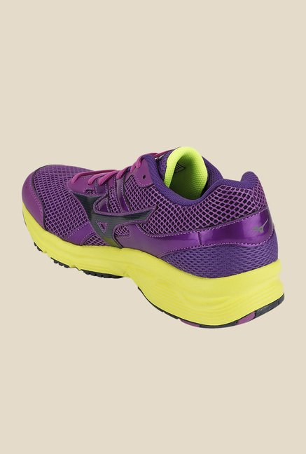 Mizuno Spark Purple & Yellow Running Shoes