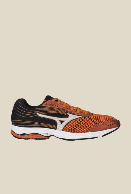 Mizuno Wave Sayonara 3 Orange & Black Running Shoes