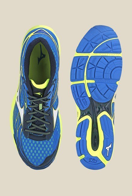 Mizuno Wave Catalyst Blue & Green Running Shoes