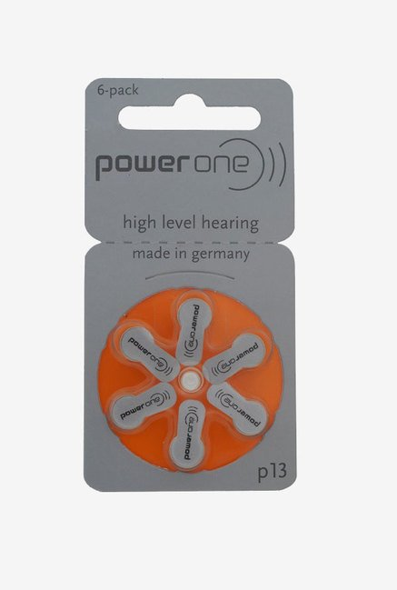 Power One P13 Hearing Aid Battery White