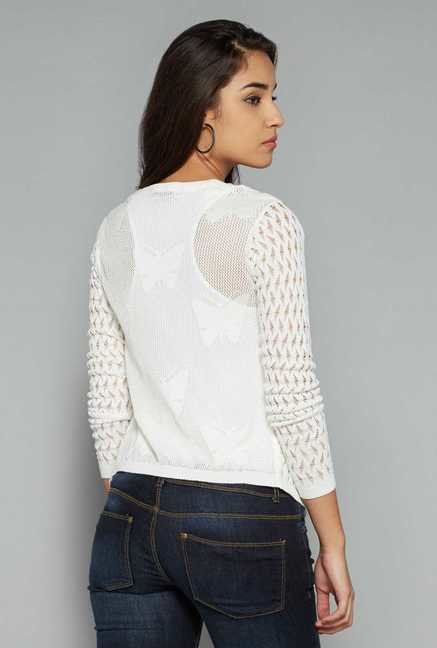 Nuon by Westside White Crochet Jacket