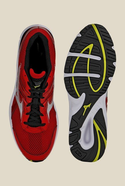 Mizuno Spark Red & Silver Running Shoes