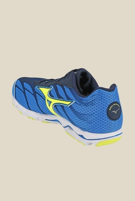 Mizuno Wave Hitogami 3 Blue & Green Running Shoes