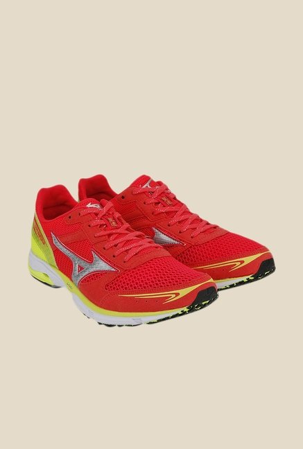 Mizuno Wave Emperor Red & Green Running Shoes