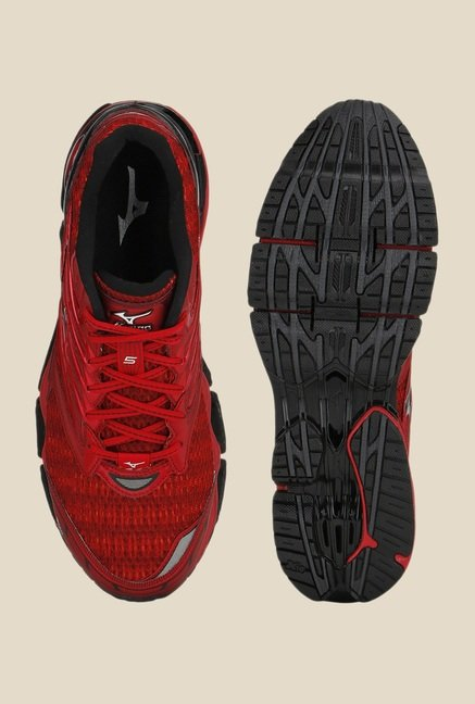 Mizuno Wave Prophecy 5 Red & Black Running Shoes