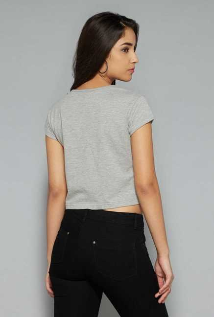 Nuon by Westside Grey Embellished Top