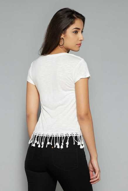 Nuon by Westside White Printed Top