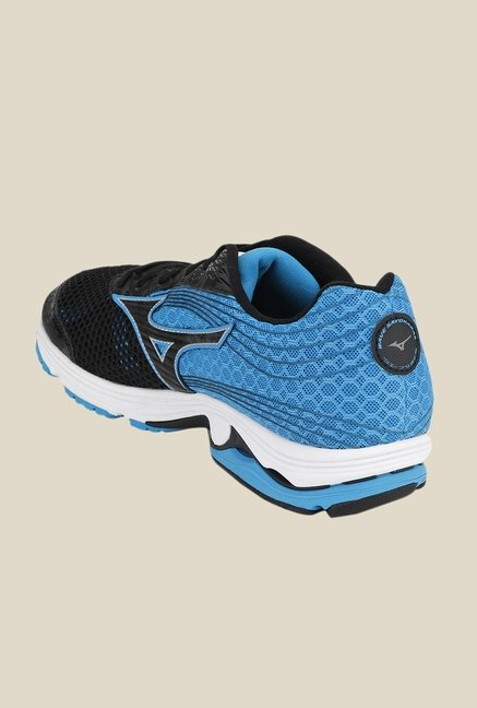Mizuno Wave Sayonara 3 Black & Blue Running Shoes