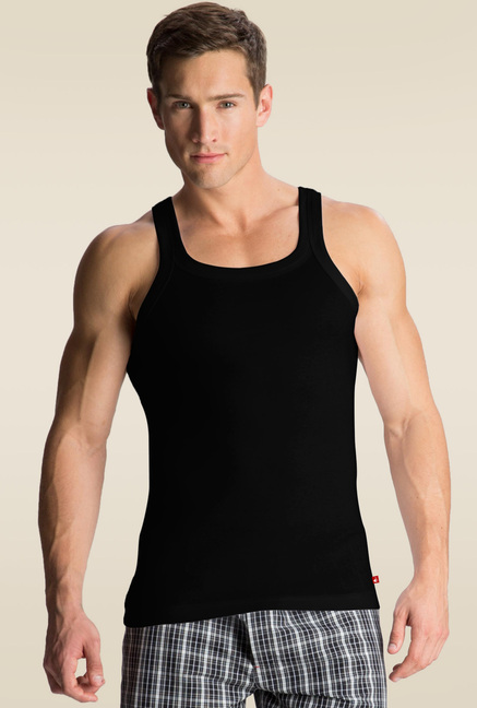 e25b74aa66af4 Buy Jockey Black Square Neck Vest - US26 for Men Online   Tata CLiQ