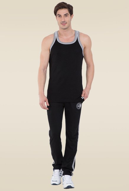 3730411c5ddc0 Buy Jockey Black   Grey Melange Fashion Power Vest - 9925 for Men Online    Tata CLiQ