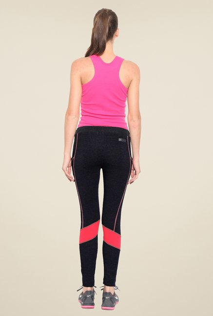 Sweet Dreams Jet Black Twill Stretch Solid Trackpant