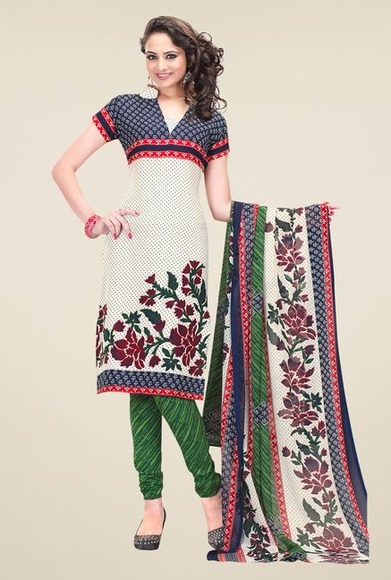 Salwar Studio Multicolor Cotton Dress Material
