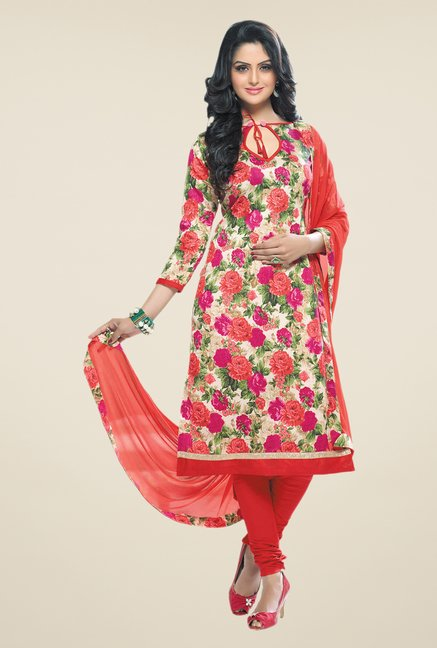 Salwar Studio Multicolor Bangalori Printed Dress Material