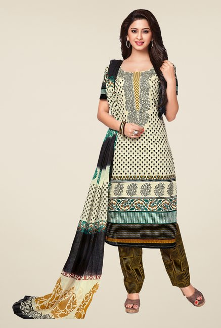 Salwar Studio Multicolor Printed Dress Material