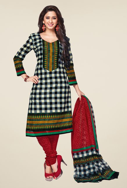 Salwar Studio Multicolor Checks Dress Material