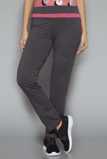Westsport by Westside Grey Solid Trackpant