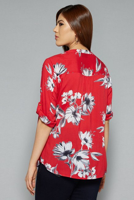 Gia by Westside Red Elsa Blouse